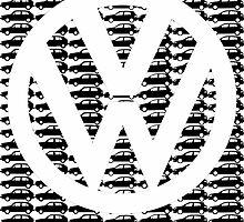 VW Golf White Logo with Black Golf Mk1-Mk7 by reujken