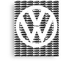 VW Golf White Logo with Black Golf Mk1-Mk7 Canvas Print