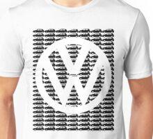 VW Golf White Logo with Black Golf Mk1-Mk7 Unisex T-Shirt