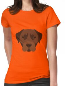Chocolate Labrador Womens Fitted T-Shirt
