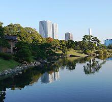 Hamarikyu - Reflections in Tokyo by amberfox17