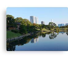 Hamarikyu - Reflections in Tokyo Canvas Print