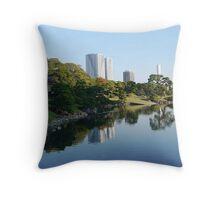 Hamarikyu - Reflections in Tokyo Throw Pillow