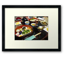 Traditional Bento in Kyoto Framed Print