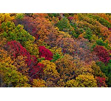 Fall colors in the Appalachian Mountains Photographic Print