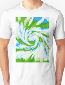 Groovy Green Blue Swirl Unisex T-Shirt
