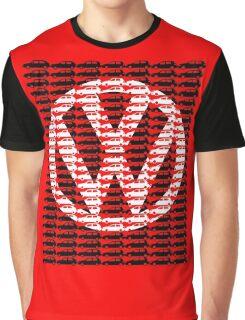 VW Golf White Golf Logo with Black Golf Mk1-Mk7 Graphic T-Shirt