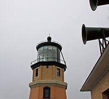 Split Rock Lighthouse and Horns by Gary Horner