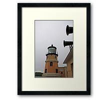 Split Rock Lighthouse and Horns Framed Print