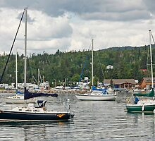 Sailboats In The Bay by Gary Horner