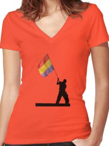 Republica Women's Fitted V-Neck T-Shirt