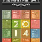 Retro Chalkboard 2014 Calendar by scottorz