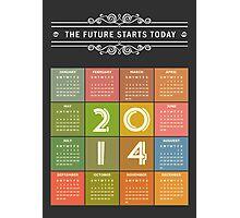 Retro Chalkboard 2014 Calendar Photographic Print