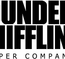 Dunder Mifflin Logo - B/W Sticker by pickledbeets