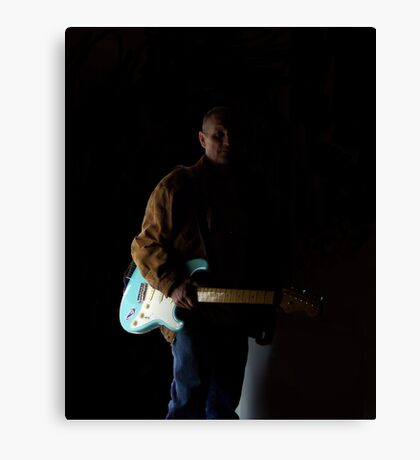 Me And My Guitar Canvas Print