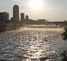 Mississippi and St. Anthony Falls by Gary Horner
