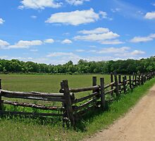 Farm Road and Picket Fence by Gary Horner