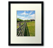 The Fence Line Framed Print