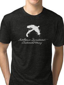Intelligence Dept., Continental Army (White) Tri-blend T-Shirt