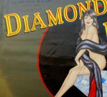 Diamond Lil - Bomber Aircraft Art Sticker