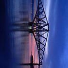Forth Rail Bridge (Small) Purple Sunrise by LBMcNicoll