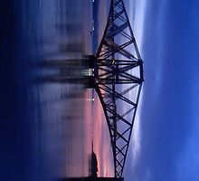 Forth Rail Bridge (Small) Purple Sunrise by LBMcNicoll
