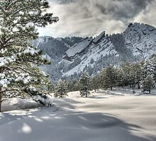 The Flatirons In A Gown of White by Gregory J Summers