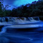 Aysgarth Falls at night by Guy  Berresford