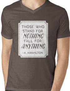 Stand or Fall Quote (White) Mens V-Neck T-Shirt