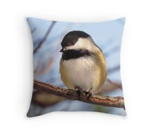 Chickadee picture Throw Pillow