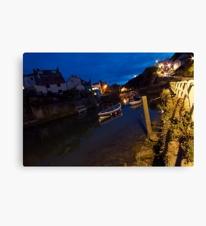 Staithes Harbour Fishing Boats Canvas Print