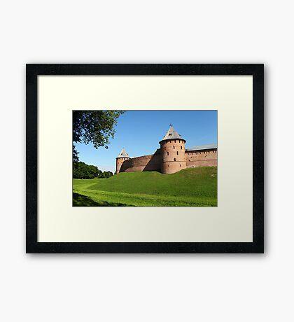 Fortress wall Framed Print