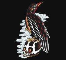 Tattoo Flash Bird Skull by apocalypsebob