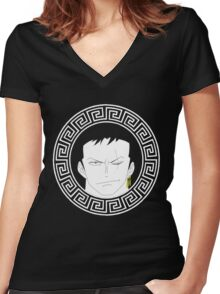 Zoro - One Piece Women's Fitted V-Neck T-Shirt