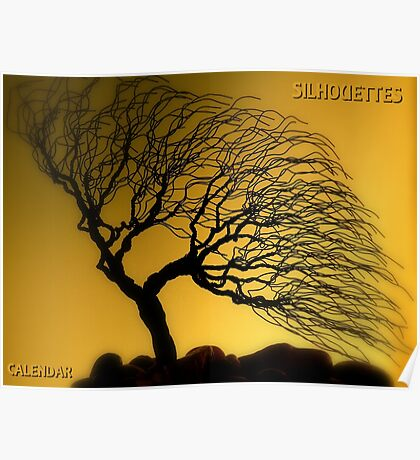 Silhouettes Calendar Cover Poster