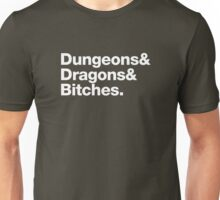 Dungeons & Dragons & Bitches (Helvetica) Unisex T-Shirt