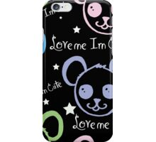 I'm Cute Bear Pattern iPhone Case/Skin
