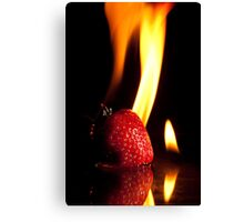 Flaming Stawberry Canvas Print