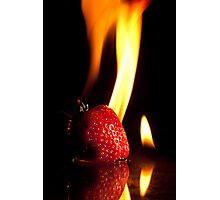 Flaming Stawberry Photographic Print