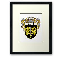 Carroll Coat of Arms/Family Crest Framed Print