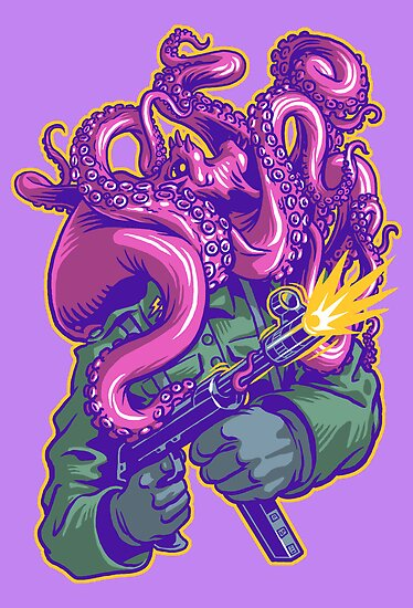 Octo-Nazi! by cs3ink