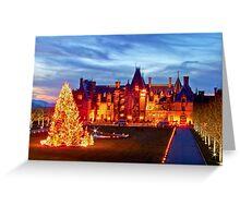 Christmas at the Biltmore Mansion Greeting Card