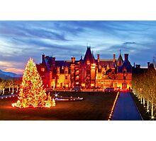 Christmas at the Biltmore Mansion Photographic Print
