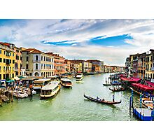 View of the Grand Canal in Venice Photographic Print