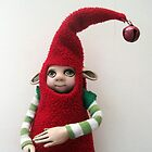 Holiday Helper - Xmas Elf  by LindaAppleArt