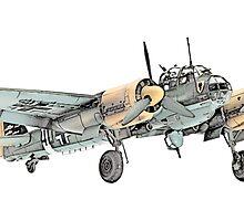 Junkers Ju 88 Bomber Airplane by surgedesigns