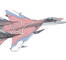 Russian MiG jet fighter aircraft by surgedesigns