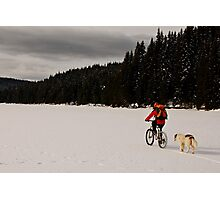 A winter ride Photographic Print