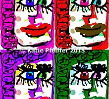 Four Faces Doodle Design by Kater