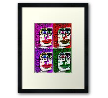 Four Faces Doodle Design Framed Print